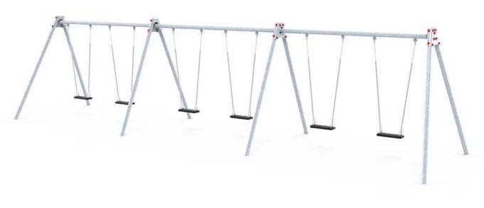 LEDON große Schaukel mit 6 Sicherheitssitzen - verschiedene Designs 2