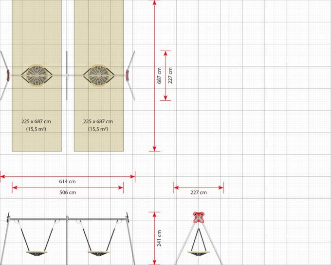 LEDON 2er Vogelnest-Schaukel - verschiedene Designs 15
