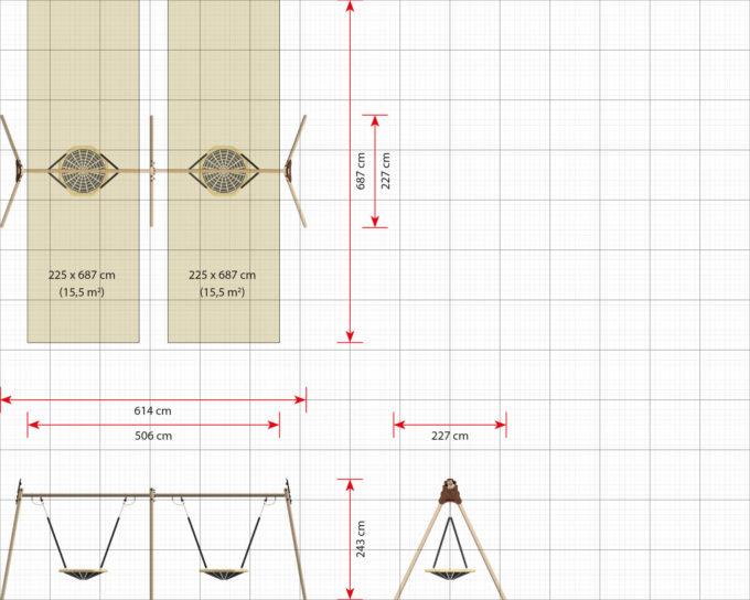 LEDON 2er Vogelnest-Schaukel - verschiedene Designs 14