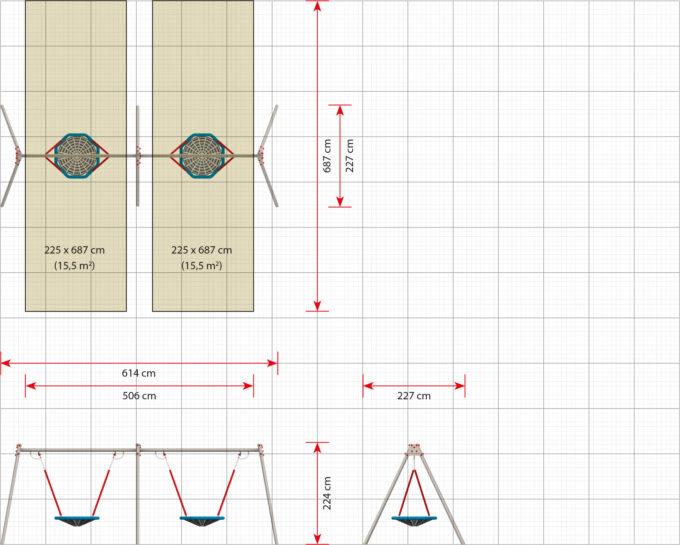 LEDON 2er Vogelnest-Schaukel - verschiedene Designs 13