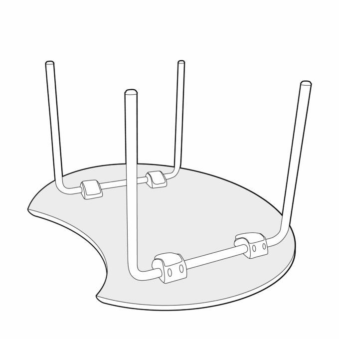 Génito Space Bite Tisch 3
