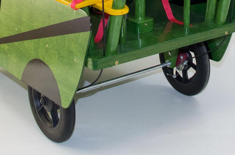 HAWAZUZIE Krippenwagen mit Motor 4-Sitzer (Starter) 15