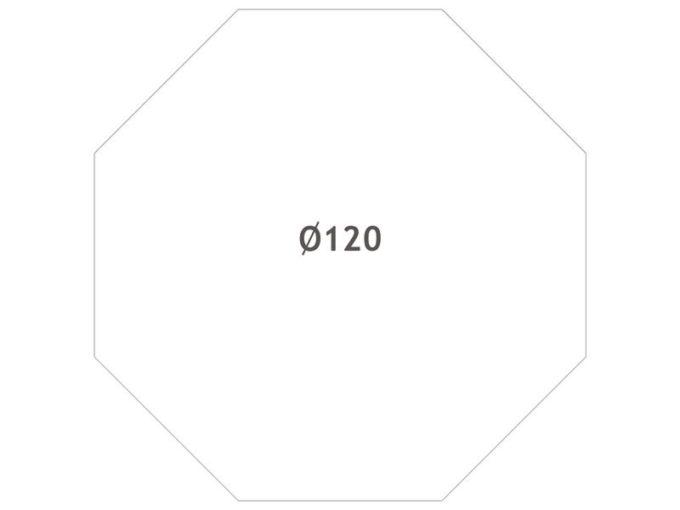 Tisch achteckig - mit beschichteter Tischplatte mit Beinen aus Metall 5