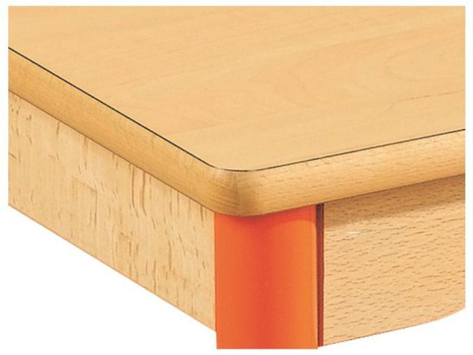 Tisch rechteckig 120x80 cm - mit beschichteter Tischplatte mit Beinen aus Metall 3