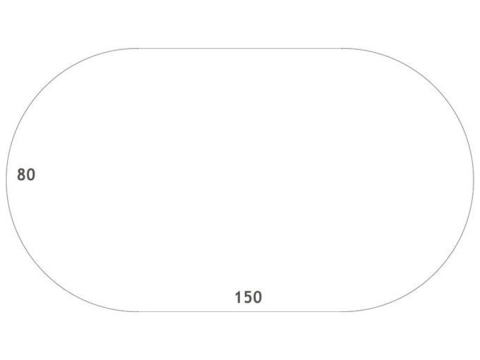Tisch oval - mit beschichteter Tischplatte mit Beinen aus Metall 5