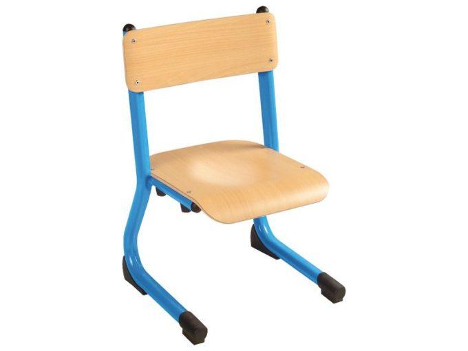 Kindergarten-Stuhl aus Metall - Sitzhöhe verstellbar - 35-46 cm 1