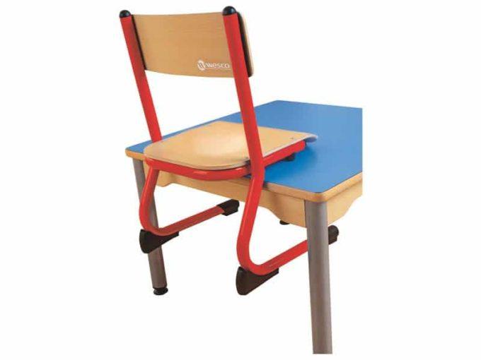 Kindergarten-Stuhl aus Metall - Sitzhöhe verstellbar - 35-46 cm 6