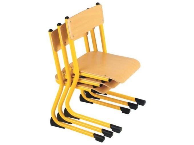 Kindergarten-Stuhl aus Metall - Sitzhöhe verstellbar - 35-46 cm 7