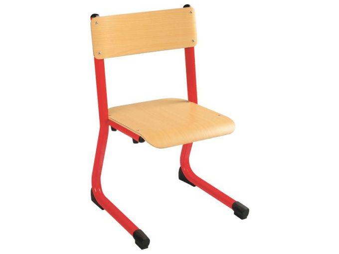 Kindergarten-Stuhl aus Metall - Sitzhöhe verstellbar - 35-46 cm 2