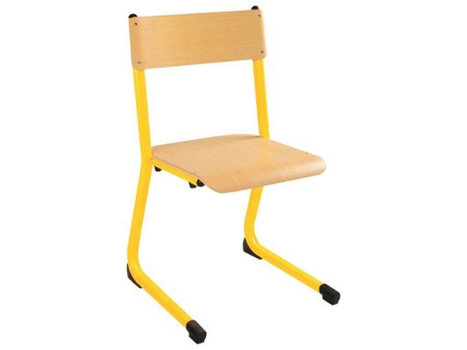 Kindergarten-Stuhl aus Metall - Sitzhöhe verstellbar - 35-46 cm 3