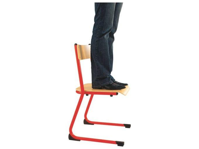 Kindergarten-Stuhl aus Metall - Sitzhöhe verstellbar - 35-46 cm 8