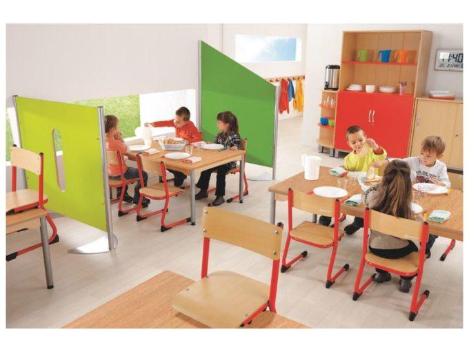 Kindergarten-Stuhl aus Metall - Sitzhöhe verstellbar - 35-46 cm 4