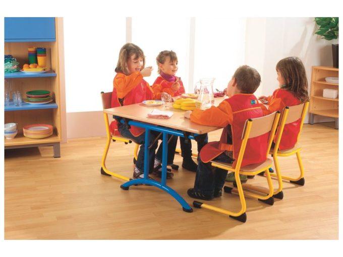 Kindergarten-Stuhl aus Metall - Sitzhöhe verstellbar - 35-46 cm 5