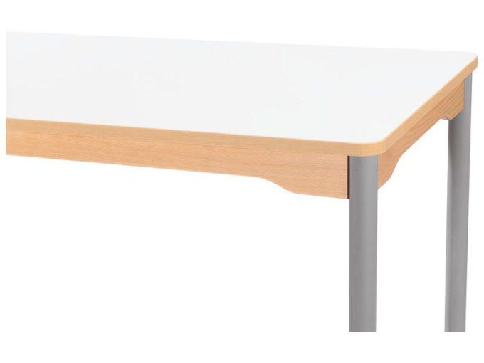 Tisch rechteckig 120x60 cm - mit Metallbeinen und Rädern 4