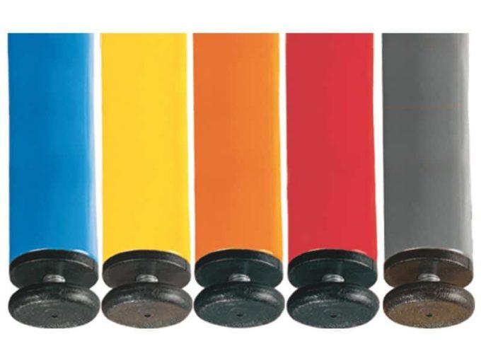 Tisch rechteckig 160x80 cm - mit geräuscharmer Platte mit Beinen aus Metall (farbig) 5