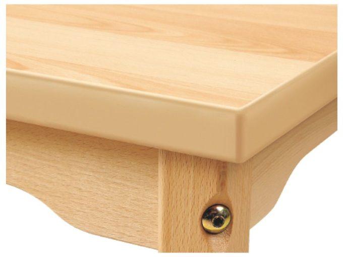 Tisch rechteckig 160x80 cm - mit geräuscharmer Platte mit Beinen aus Metall (farbig) 2