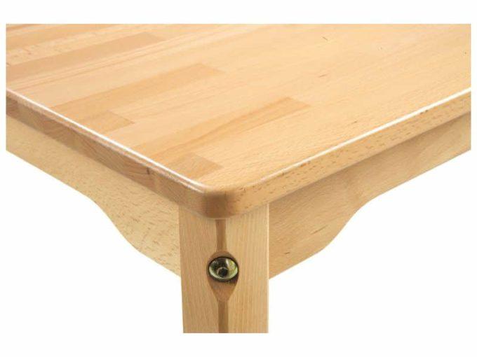 Tisch quadratisch 60x60 cm - aus 100% massiver Buche - Beine aus Holz 5