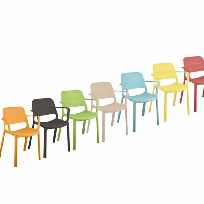 Friwa Kunststoff-Stapelstuhl mit Armlehnen in 8 Farben 2