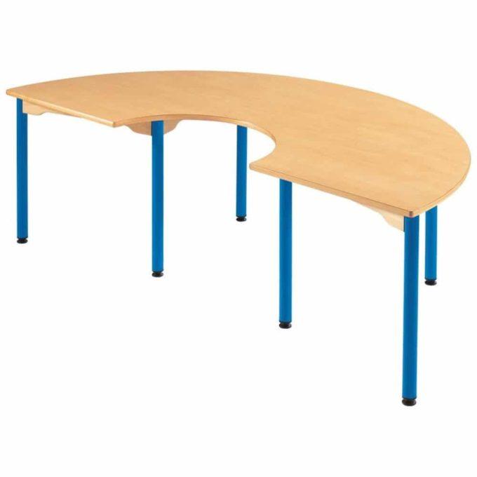 Hufeisentisch - mit beschichteter Tischplatte mit Beinen aus Metall 1