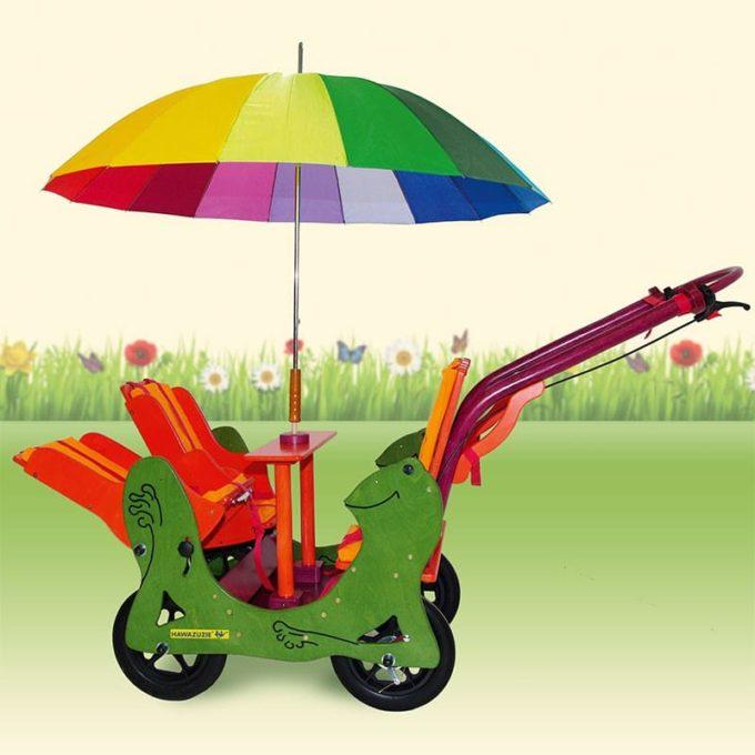 HAWAZUZIE Krippenwagen Frosch - 4-Sitzer (Komfort) 1