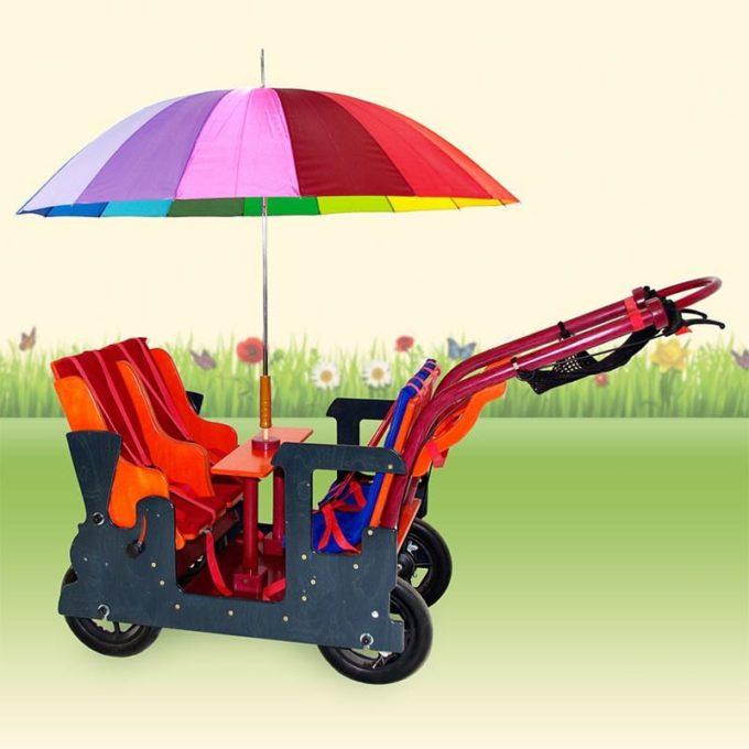 HAWAZUZIE Krippenwagen Lok - 4-Sitzer (Komfort) 1