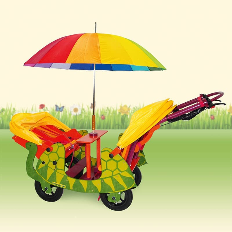 HAWAZUZIE Krippenwagen Schildkröte - 4-Sitzer (Komfort) 15