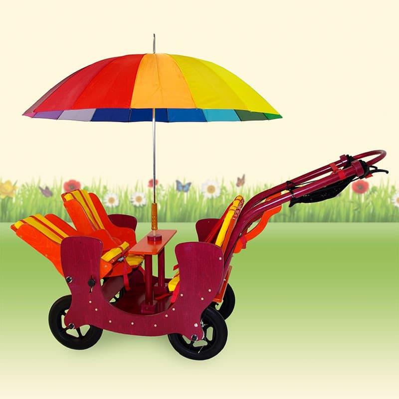 HAWAZUZIE Krippenwagen 4-Sitzer (Komfort) 15