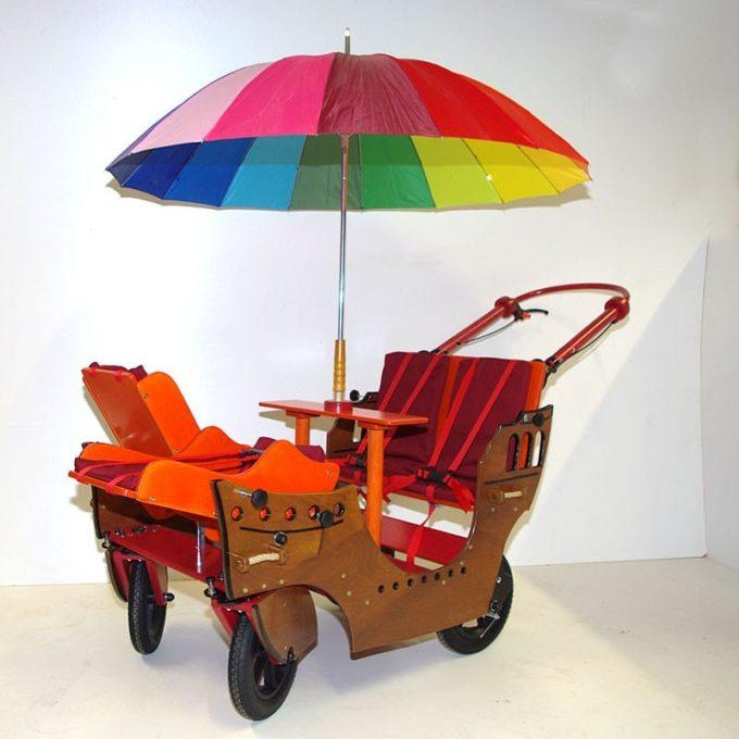 HAWAZUZIE Krippenwagen Piratenschiff - 4-Sitzer (Komfort) 2