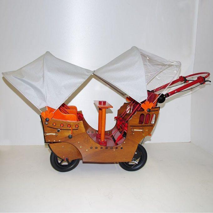 HAWAZUZIE Krippenwagen Piratenschiff - 4-Sitzer (Komfort) 3