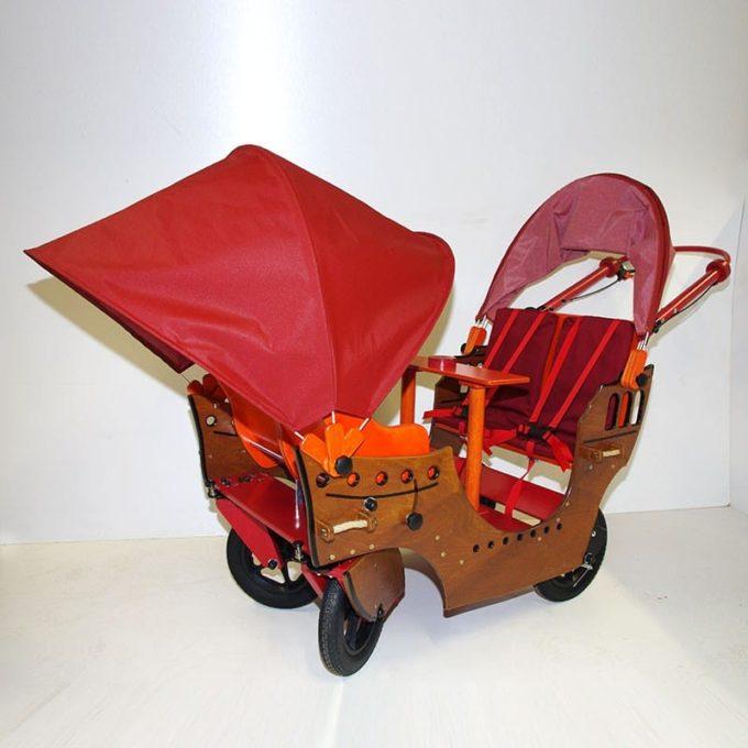 HAWAZUZIE Krippenwagen Piratenschiff - 4-Sitzer (Komfort) 4