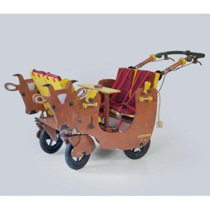 HAWAZUZIE Krippenwagen mit Motor 4-Sitzer - Kuh Alma 1
