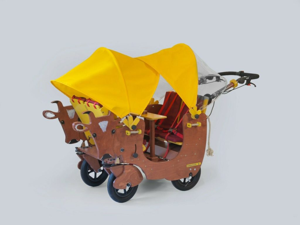 HAWAZUZIE Krippenwagen mit Motor 4-Sitzer - Kuh Alma 16