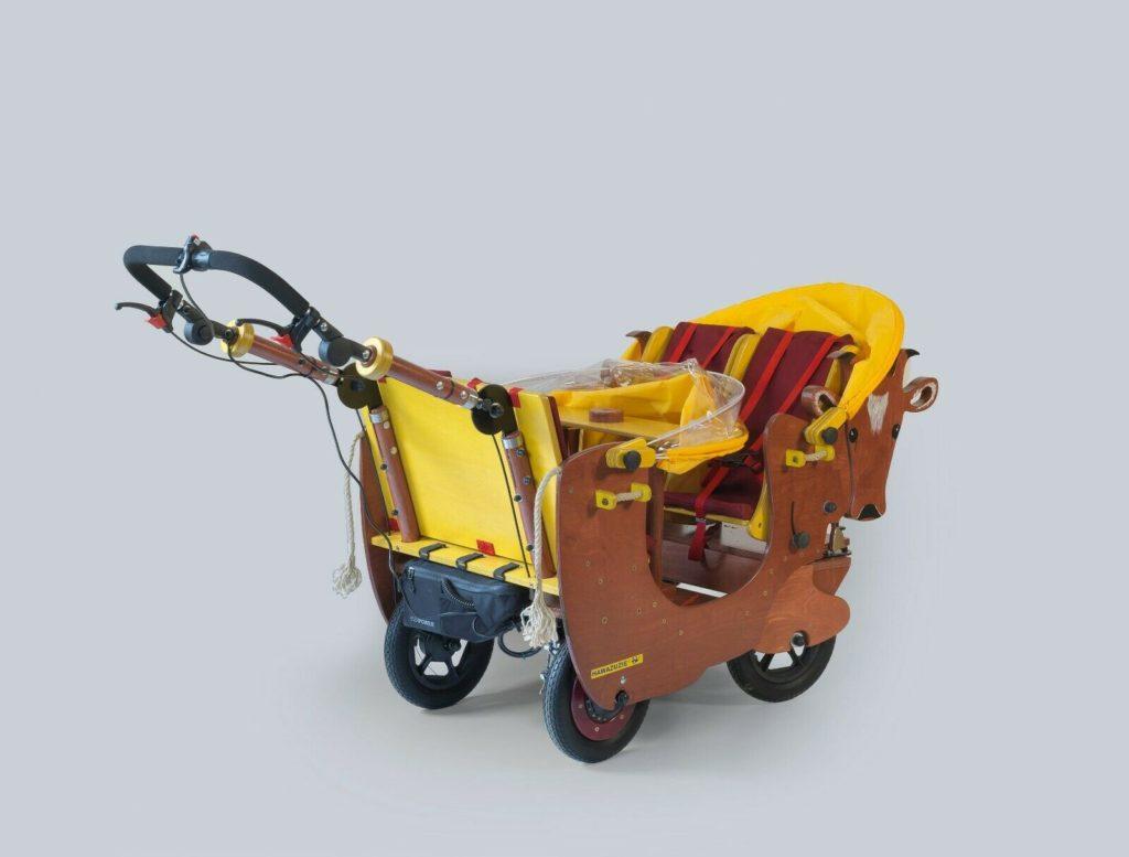 HAWAZUZIE Krippenwagen mit Motor 4-Sitzer - Kuh Alma 15