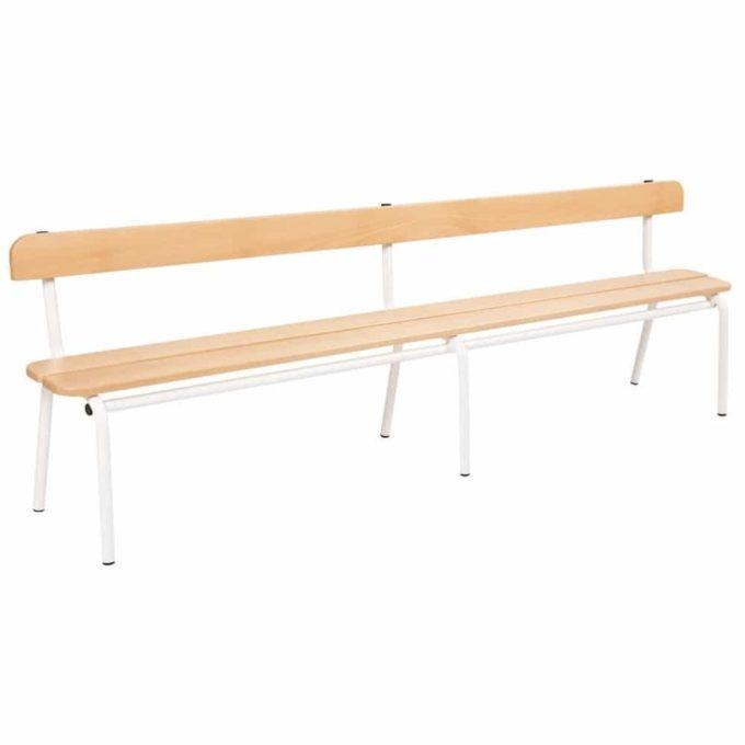 Metall- und Holzbank mit Lehne - Länge: 200 cm (klein) 1