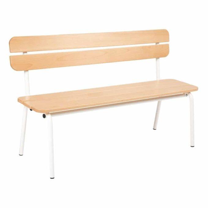 Metall- und Holzbank mit Lehne - Länge: 120 cm 1