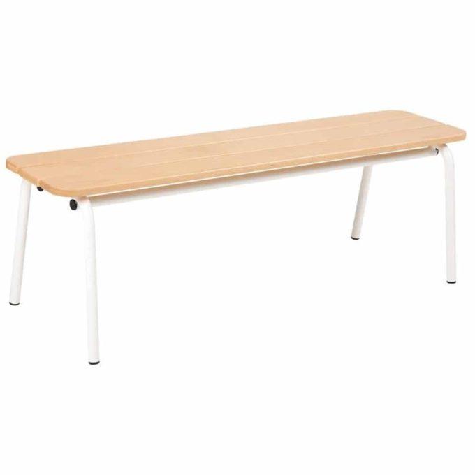 Metall- und Holzbank ohne Lehne - Länge: 120 cm 1