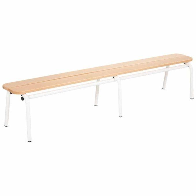 Metall- und Holzbank ohne Lehne - Länge: 160 cm 1