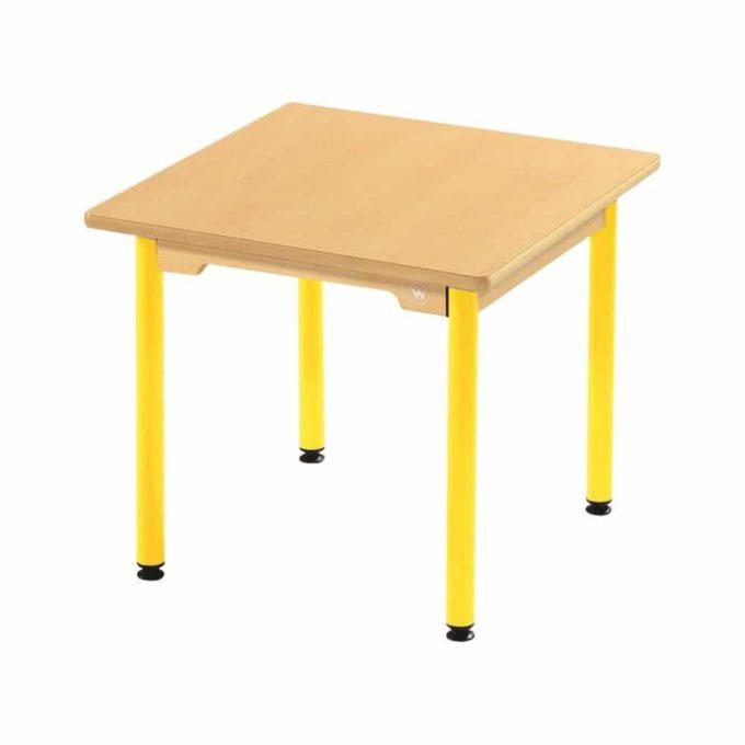 Tisch quadratisch 60x60 cm - mit beschichteter Tischplatte mit Beinen aus Metall 1