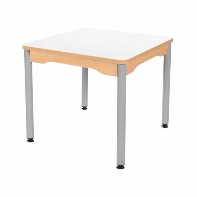 Tisch quadratisch 60x60 cm - mit Metallbeinen 1