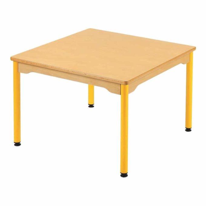 Tisch quadratisch 80x80 cm - mit beschichteter Tischplatte mit Beinen aus Metall 1