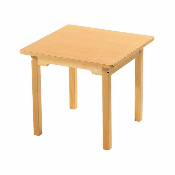 Tisch quadratisch 60x60 cm - aus 100% massiver Buche - Beine aus Holz 1
