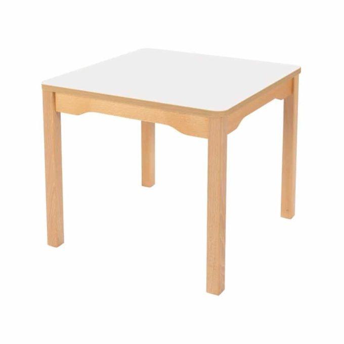 Tisch quadratisch 60x60 cm - mit Holzbeinen 1