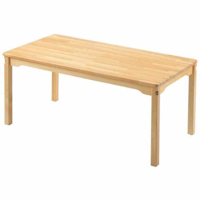 Tisch rechteckig 120x60 cm - aus 100% massiver Buche - Beine aus Holz 1