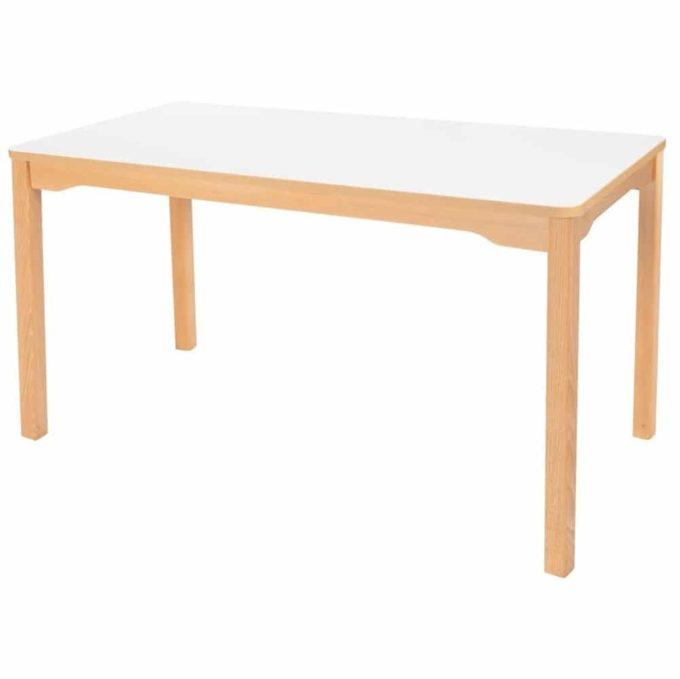 Tisch rechteckig 120x60 cm - mit Holzbeinen 1