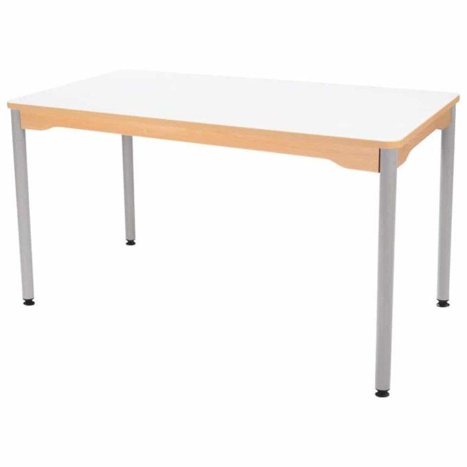 Tisch rechteckig 120x60 cm - mit Metallbeinen 1