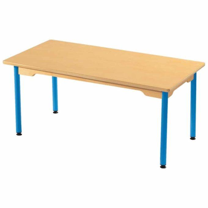 Tisch rechteckig 120x60 cm - mit beschichteter Tischplatte mit Beinen aus Metall 1