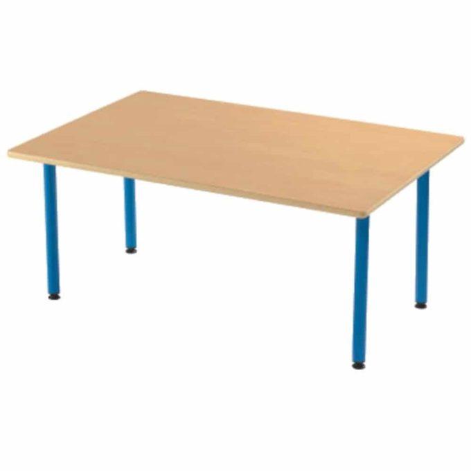 Tisch rechteckig 120x80 cm - mit geräuscharmer Platte mit Beinen aus Metall (farbig) 1
