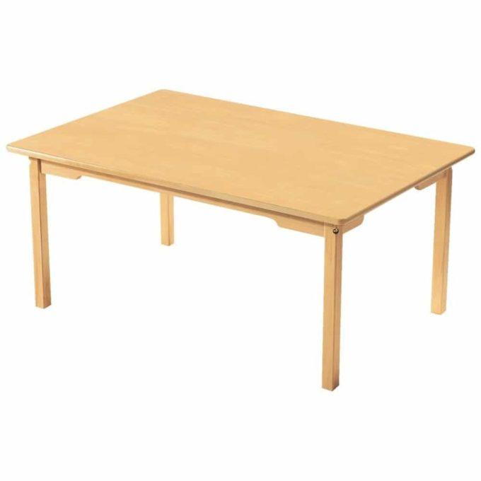 Tisch rechteckig 120x80 cm - mit geräuscharmer Platte mit Beinen aus Holz 1