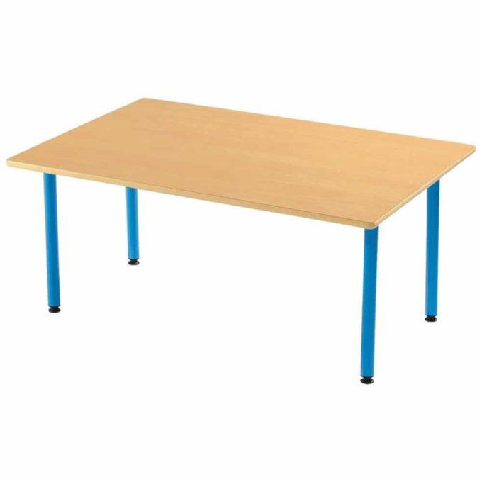 Tisch rechteckig 120x80 cm - mit beschichteter Tischplatte mit Beinen aus Metall 1