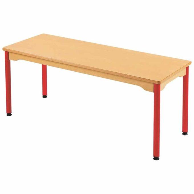 Tisch rechteckig 130x50 cm - mit beschichteter Tischplatte mit Beinen aus Metall 1